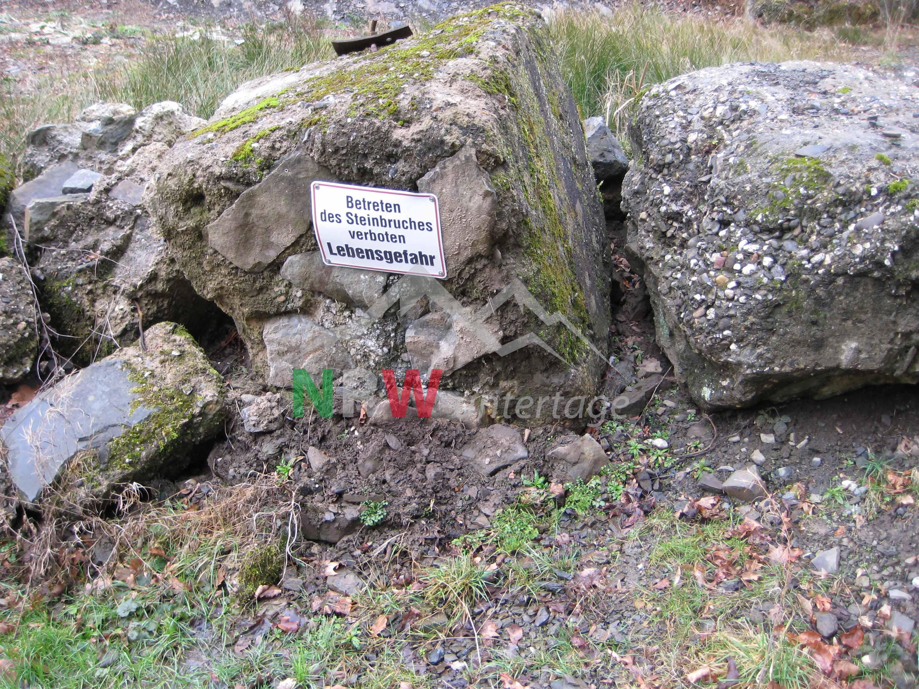 Steinbruch Eitorf-Kelters Schild